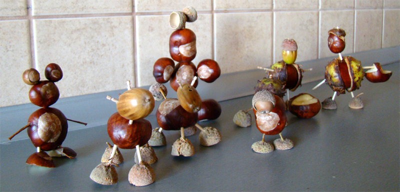 figurki z kasztanów, galeria