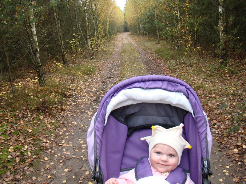 jesień z maluszkiem, jesień u blogerki