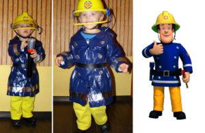 strój strażaka sama