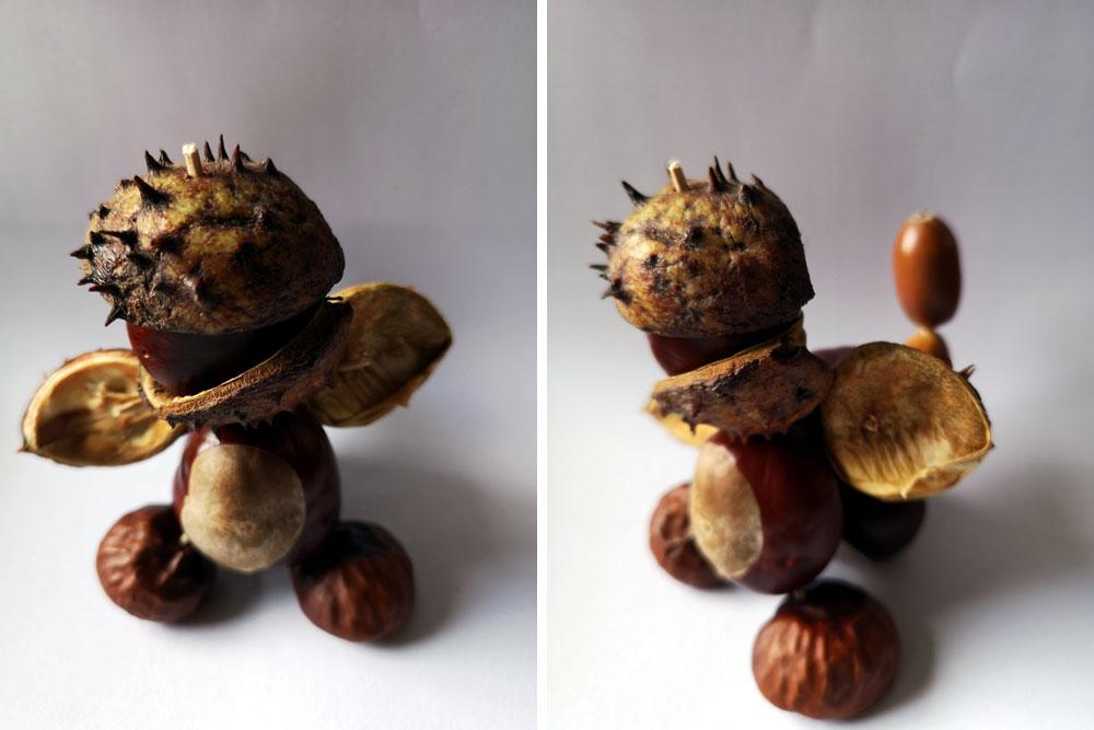 figurki z kasztanów