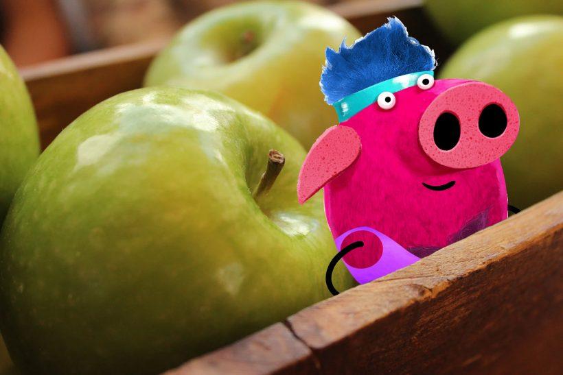 jabłka do drugiego śniadania